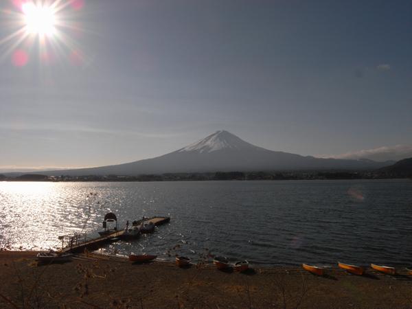 El monte Fuji visto desde el lago Kawaguchiko