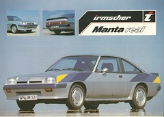 1982 Irmscher Manta real (Hugo-90) Tags: auto car ads advertising real gm voiture bil brochure manta opel generalmotors irmscher drucksache