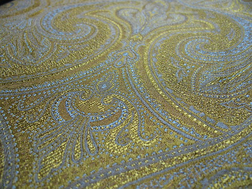 Blue and Gold Brocade