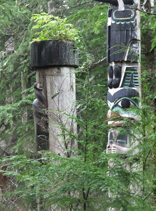 totems in Kasaan Totem Park, Kasaan, Alaska