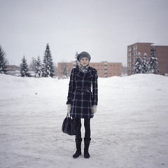 sister (fandris) Tags: winter snow estonia kodak bronica protrait february portra sqa 1x1 2010 saku