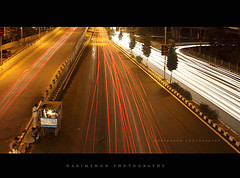 Night is young (harimenon4u) Tags: light india speed slow bangalore shutter karnataka traffice