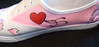 love hate trainers size 7 £45 Hand painted custom
