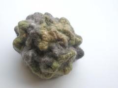 Shibori object (janine berben) Tags: wool rock felted object silk felt lichen geode shibori expiriment
