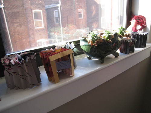 The first seven forts waiting in the window.