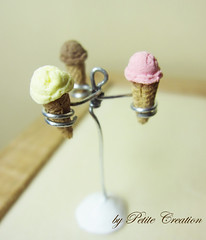 Dollhouse Miniature Ice cream Cones - 1/12 Scale