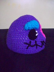 101_1110 (CrazyHatSociety) Tags: halloween rainbow purple cosplay handmade humor adorable hats creepy etsy geekery deadbaby neoncolors ravelry crazyhatsociety threadknits tauntonstitchandbitch