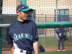 Ichiro in Batting Practice