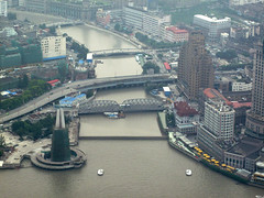 View of Suzhou Creek from the Oriental Pearl Tower, Shanghai