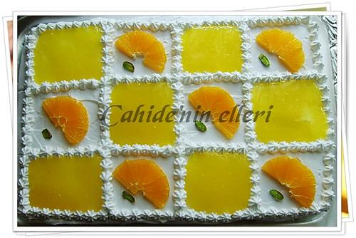 portakallı yaş pasta