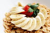 Cereal and Bananas! (ralph and jenny) Tags: christmas nyc newyorkcity food holiday newyork breakfast hotel strawberry berries cereal strawberries banana bananas roomservice specialk nikond90 jumeirahessexhouse af60mmf28g
