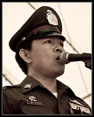 Police for the Red (ebvImages) Tags: thailand protest redshirts udd