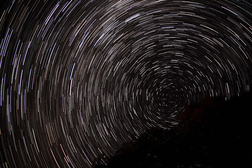Tidal River star trails (70 x 30 seconds)