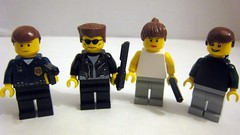 Terminator 2 Characters (The Brick Guy) Tags: lego arnold jamescameron terminator2 t1000 sarahconnor johnconnor brickarms