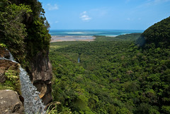 Iriomote Island (Mountain/Waterfall View) (milewski) Tags: ocean sky mountain beach nature water beautiful japan forest river landscape island waterfall scenery view pacific altitude scenic scene pacificocean jungle tropical tropic okinawa mountainview tropics subtropics iriomote wildjungle
