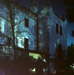 Bachelor Officer's Quarters, night (Amanda Tomlin) Tags: night 4x5 linhof novato 64t hamiltonafb