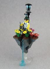 Floating Rock of Tranquility (Spring) (Titolian) Tags: flowers water rock spring lego manga floating ac8 brickarms