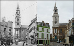 Clerkenwell Green`1906-2010 (roll the dice) Tags: uk lenin london art history classic church easter pub chapel 1906 islington clerkenwell crypt farringdon edwardian thecrown ec1 nunnery oldandnew finsbury publichouse stjamess pastandpresent londonist bygone hereandnow churchengland