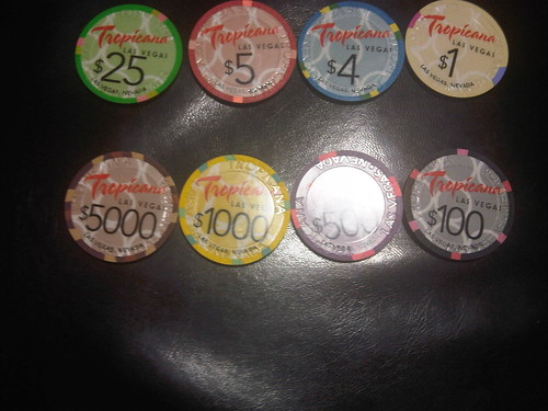 Our NEW casino chips. They'll be in the casino starting Friday!