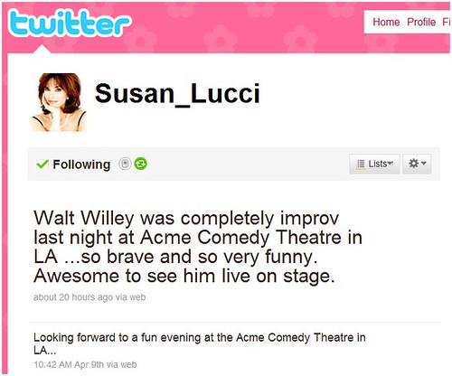 Susan Lucci Liked Us!  She Really Liked Us!