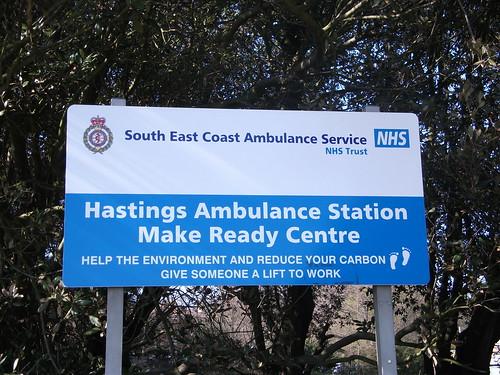 Signage at South East Coast Ambulance Service Hast…