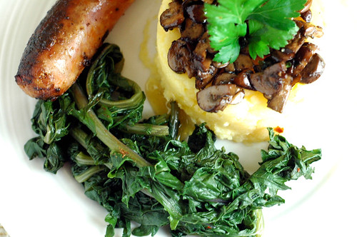 polenta sausage and kale