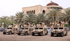 Hummers outside the as-Salam Palace... (Colonel Killgore) Tags: car army iraq palace palmtree armor baghdad hummer hmmwv armour armored armoured hummvee highmobilitymultipurposewheeledvehicle