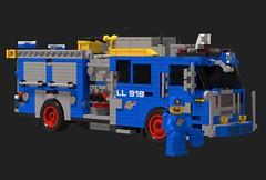 "FDNY Engine LL918 CS ""Bennys Truck"" (sponki25) Tags: lego classic space fdny ll 918 benny firetruck seagrave attacker hd high pressure pumper new york nyc"