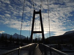 Suspension Bridge Siffleur Falls Alberta (kevinmklerks) Tags: alberta rocky mountains kootenay kootney plains lake abraham falls forest floodplain siffleur