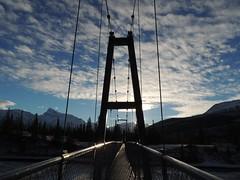 Suspension Bridge Siffleur Falls Alberta (kevinmklerks) Tags: alberta rocky mountains kootenay kootney plains lake abraham falls forest floodplain siffleur