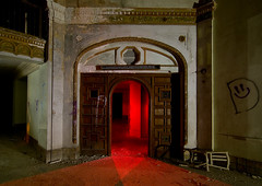 D Lighted (Noel Kerns) Tags: abandoned night hotel texas baker wells ballroom mineral brazos
