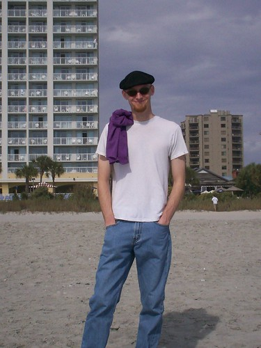 baldman on the beach
