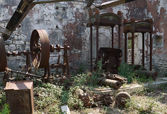 Olive Presses of Paxos (Rupert Brun) Tags: architecture island greek soap industrial factory olive steam greece oil venetian press paxos loggos powered paxoi presses ionian olivy venetiansoapfactory industrialarchitetcure
