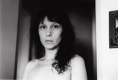 (Gianni Mazzarelli) Tags: portrait blackandwhite bw blancoynegro film girl analog 35mm analogue ritratto nikonf3 bianconero biancoenero mv ragazza pelcula pellicola mabelvargas