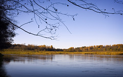 autumn blueness, evening near the river (czdistagon.com) Tags: autumn panorama nature river landscape explore contax cz volga 3514 distagon aleksandrmatveev czcontaxdistagon3514 czdistagon czdistagoncom