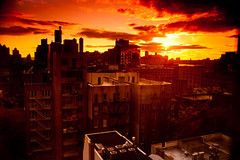 Lower West Side Sunset (Jim Barry Photography) Tags: sunset west warm manhattan side lower