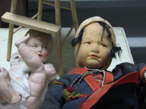 dolls at an estate sale, Mt. Kisco, NY
