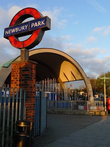 Newbury Park Tube station by Ewan