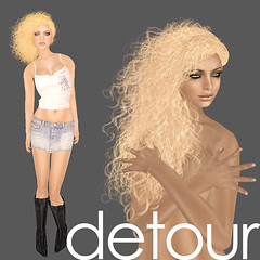 Detour (Keri Clip) Tags: life beauty make up fashion hair 3d shoes skins boots avatar makeup clip clothes secondlife second keri