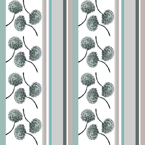 Dahlia Floral Stripe