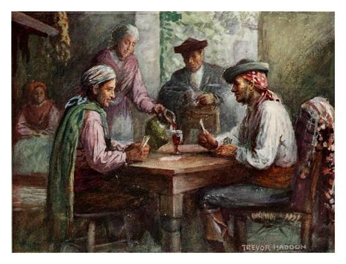 046-Granada-Interior de una posada-Southern Spain 1908- Trevor Haddon