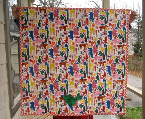 Zoe's Jungle Quilt - back