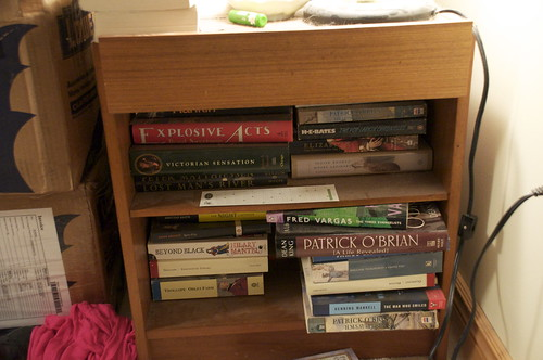 Too many books by my bed