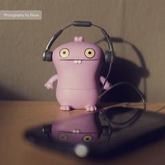 Babo & the Re-Mix (27/30) (Morphicx) Tags: pink music actionfigure 50mm purple action vinyl remix ugly 5d uglydoll 50 uglydolls babo iphone 30days 5014 uglydollsunite uglydollunite