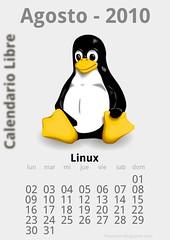 Agosto 2010 Calendario libre