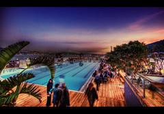 Suada HDR (ISIK5) Tags: sunset pool cityscapes nightclub galatasaray hdr lucisart havuz suada photomatix kurucesme galatasarayadasi