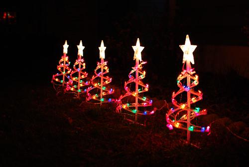 109 lighted little trees
