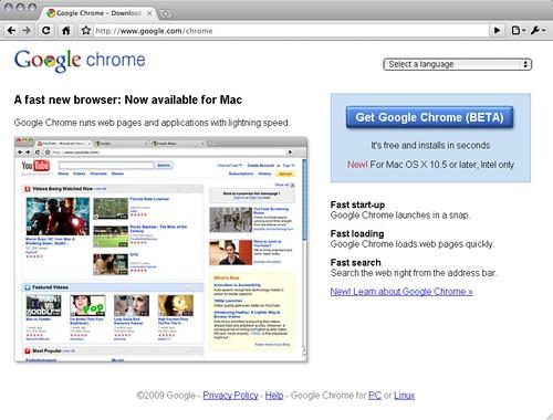 Get Google Chrome Beta for Mac