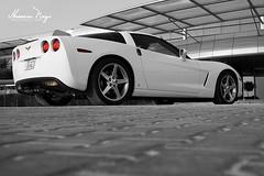 Corvette C6 (Hussain Naqi) Tags: city usa white color chevrolet car sport canon photography eos super american kuwait corvette 2009 supercar c6 kw q8 sportcar hussain chey kwt naqi kuw 400d abdullaziz kscp