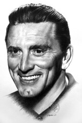 Kirk Douglas (pbradyart) Tags: portrait bw art pencil movie star sketch artwork drawing pencildrawing kirkdouglas filmstardrawing kirkdouglasportrait kirkdouglaspencildrawing kirkdouglasdrawing